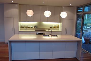 New Kitchen-White Cabinets