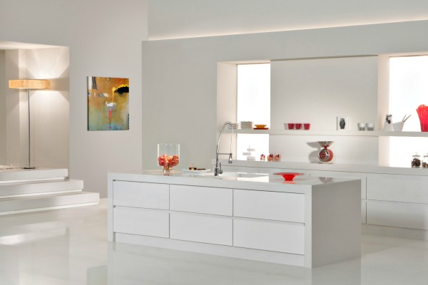 CaesarStone Classico 2141 Snow kitchen