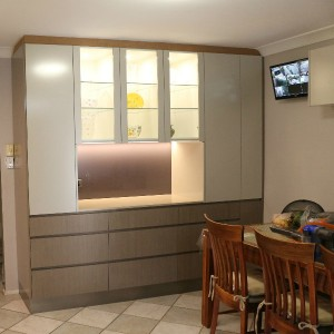 Cabinets in dining area